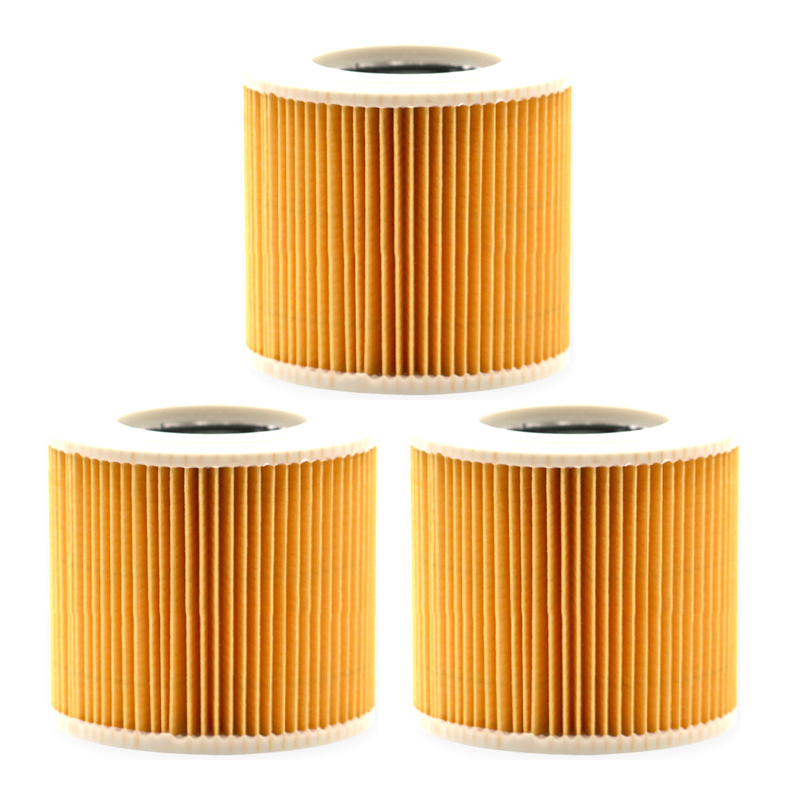 3pcs Filter Elements Accessory For Karcher WD 2250/A 2200/A 2574 Me/NT 20/1 Me Classic/NT 38/1 CLassic/WD 2/WD 3/WD 3 Premium