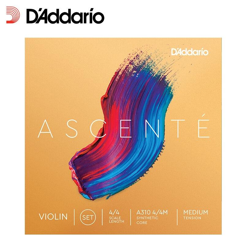 D'Addario Daddario Ascente Violin String,Medium Tension, 1/2 Scale, 3/4 Scale, 4/4 Scale handmade new solid maple wood brown acoustic violin violino 4 4 electric violin case bow included