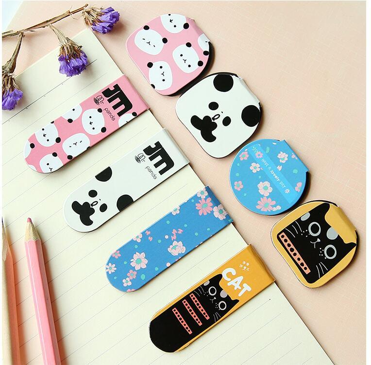 2pcs/pack Per Lot Cartoon Panda Magnetic Bookmarks Office&School Fashion Christmas Gift Zakka Styles