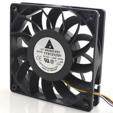 FFB1212SH 12025 12V 1.24A 12 см яростный высокоскоростной воздушный объемный вентилятор