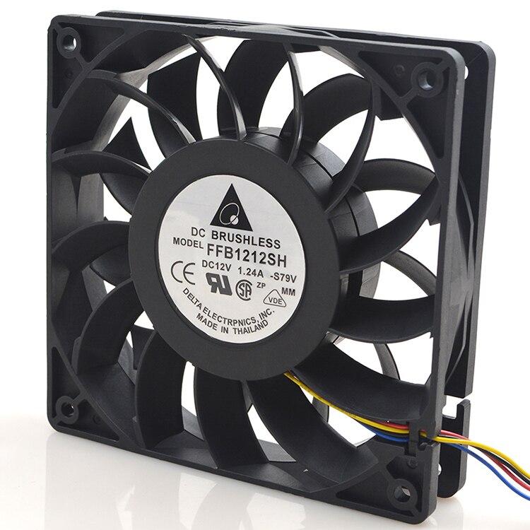 New original FFB1212SH 12025 12V 1.24A 12CM violent high speed air volume fan