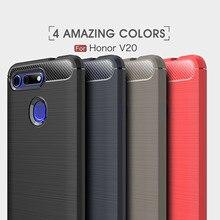купить For Huawei Honor 8 8X Max 9 9i 9 lite10 10i Case Carbon Fiber TPU For Huawei Honor V8 V9 Play V10 V20 Note 8 Note 10 Play Cover онлайн