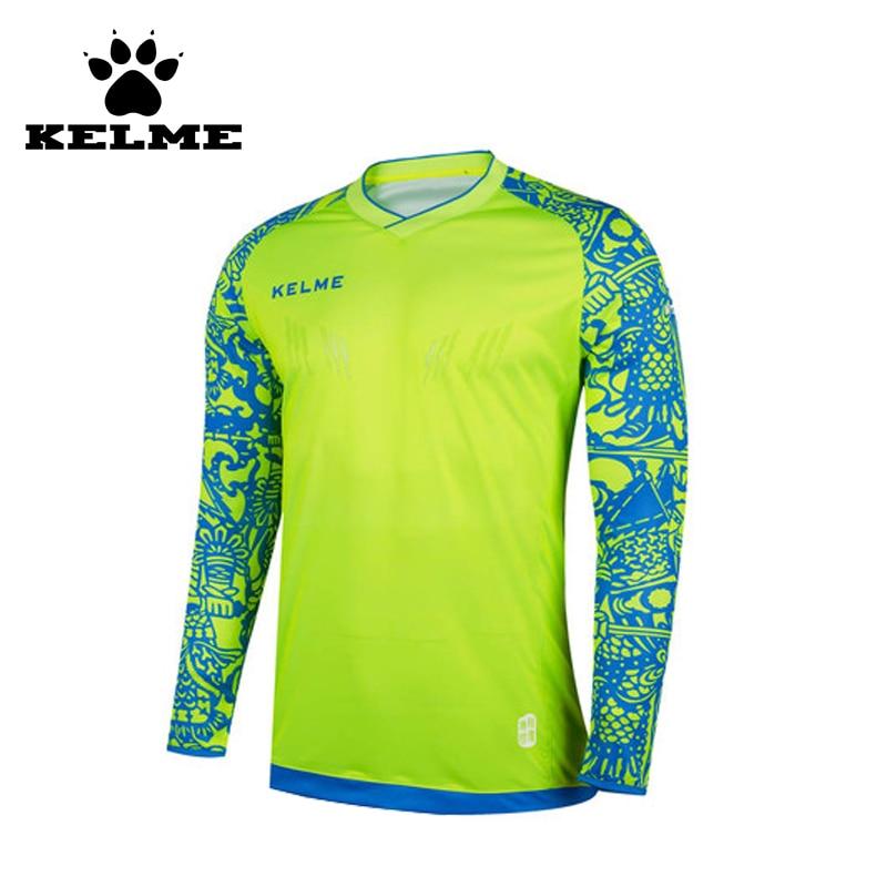 KELME Tops Soccer Goalkeeper Clothing Men Soccer Jersey Kids Football Goalkeeper Training Doorkeepers Long Sleeve For Children28 metalowe skrzydła dekoracyjne na ścianę