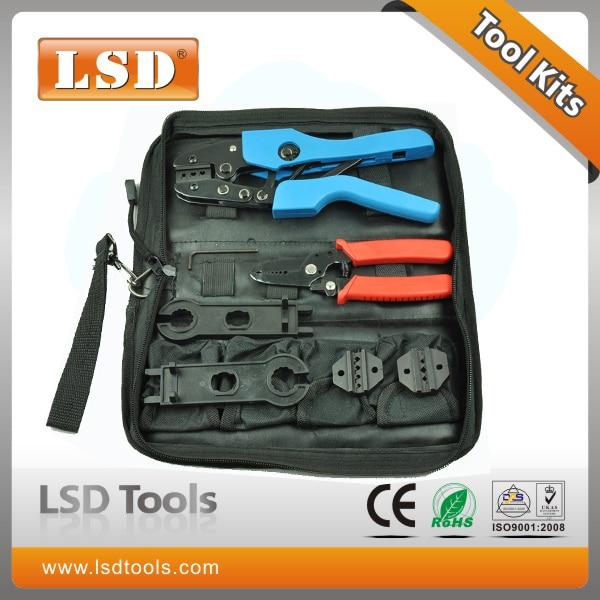 AN-K2546B Optical fiber tool set solar PV Tool set, solar tool set crimping tool.stripper,dies,combination too kit  набор инструмента selta 2546