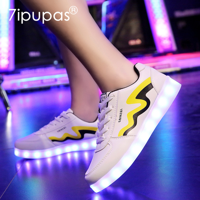 chaussures de séparation 4a324 ee6eb € 17.75 |7 ipupas Mode Glowing led chaussures enfants designer homme  chaussures baskets lumineuses Mujer Panier Femme Chaussure Tenis Feminino  ...