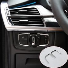 Для BMW X5 F15 2014-2017 ABS Матовый Хром лампы фар Выключатель украшения Рамки отделкой