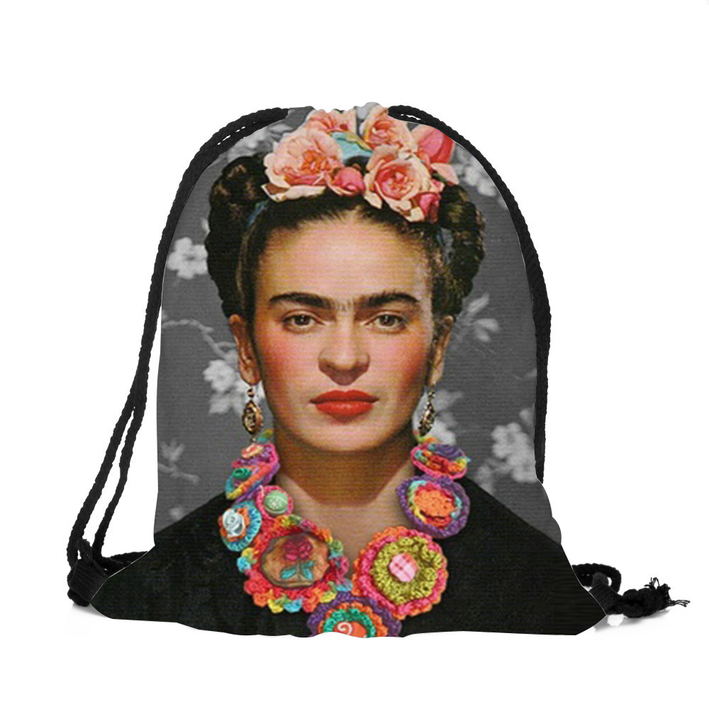 Zhbslwt New Fashion Mexican Skull 3d Printing Drawstring Bag  Women Backpack Travel Softback Women Mochila