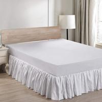 100%Linen Bed skirt with Pintuck border