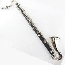 Черный бас-кларнет Professional кларнет BB падение B настройки гобоя кларнет с элементами из красного дерева посеребрение ключ шведский стол ключи кларнет