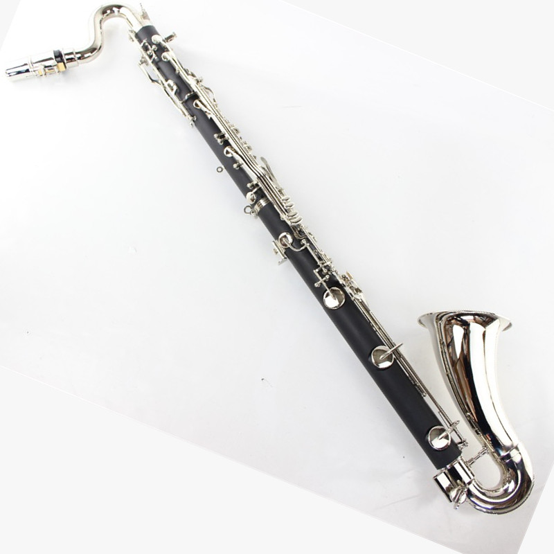 Noir Clarinette Basse Professionnel clarinette bb Baisse B Tuning hautbois Acajou Clarinette Argenture Buffet Clé Touches Clarinette