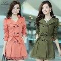 2016 Trincheira Casaco Sobretudo Feminino Casacos Femininos Fabricantes Que Vendem Novo Código Grandes Coreano Rendas de Slim