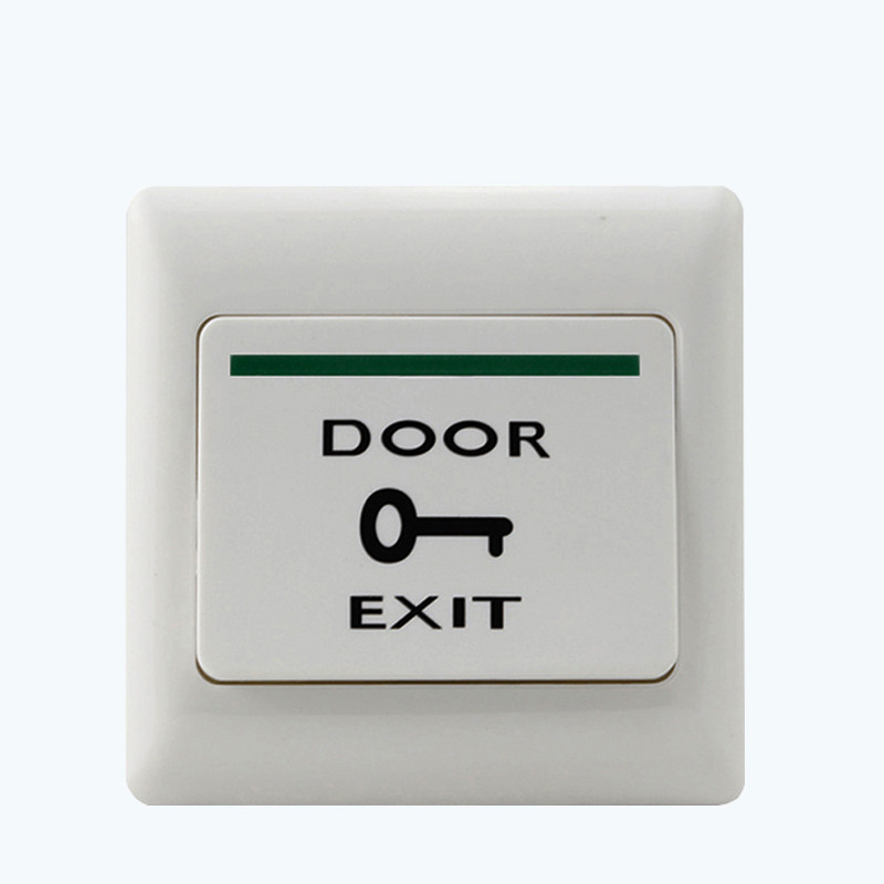 White Plastic Door Exit Push Release Button Exit  Switch For Electric magnetic Lock Access Control System fireproofing plastic abs white push door release exit button switch for door lock access control system m6 model