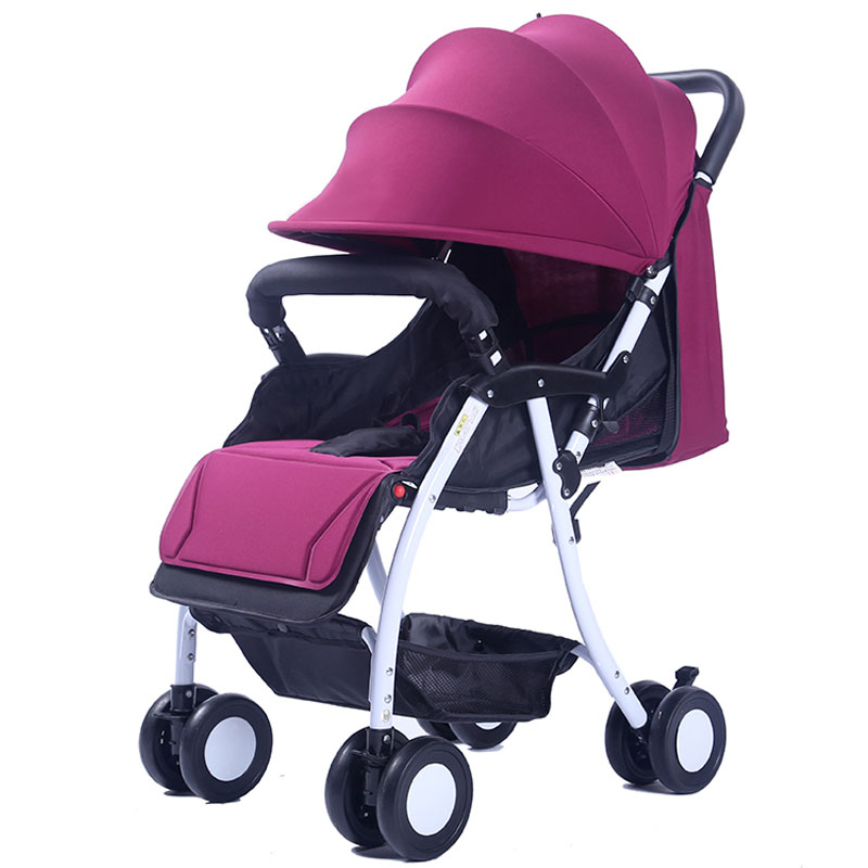 Portable Baby Stroller Flat Lying Baby Umbrella Stroller Folding Shock Absorber Baby Carriage Quick Smart Full Ratating WheelsPortable Baby Stroller Flat Lying Baby Umbrella Stroller Folding Shock Absorber Baby Carriage Quick Smart Full Ratating Wheels
