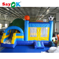 Free Shipping Inflatable Bouncer House Inflatable Slide Bouncer 6x3x3m Inflatable Trampoline with Blower for Sale