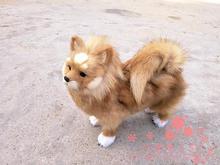 simulation Pomeranian dog model large 28x25cm,polyethylene & furs Pomeranian toy model decoration gift t453