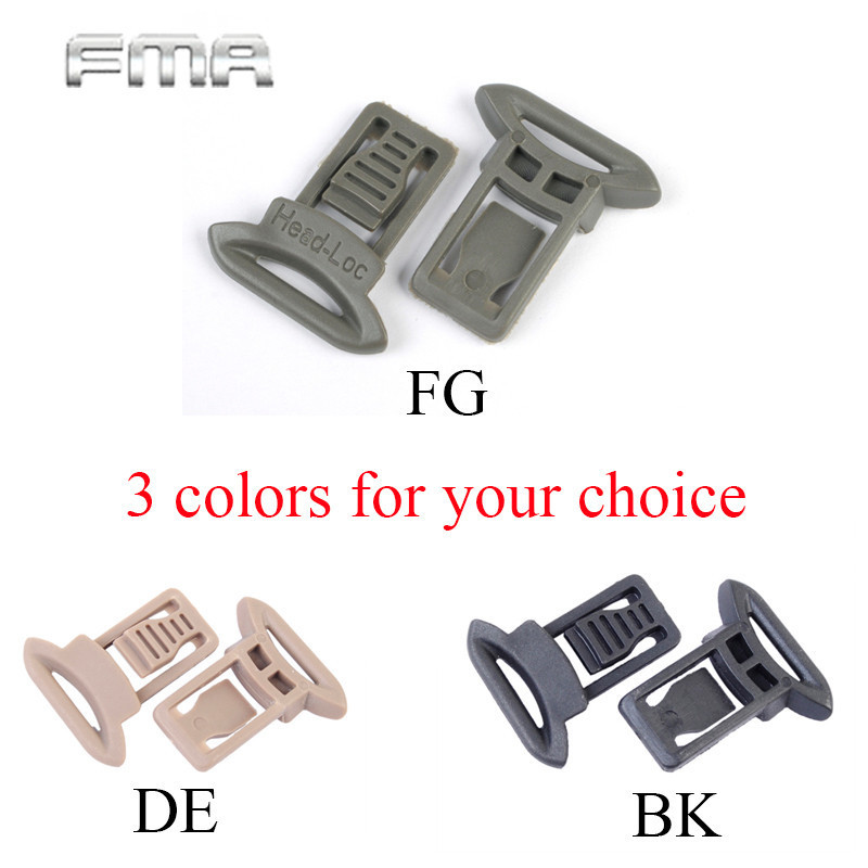 №3 Pairs FMA Paintball Goggle Swivel Clips Set For Helmet Side Rails ...
