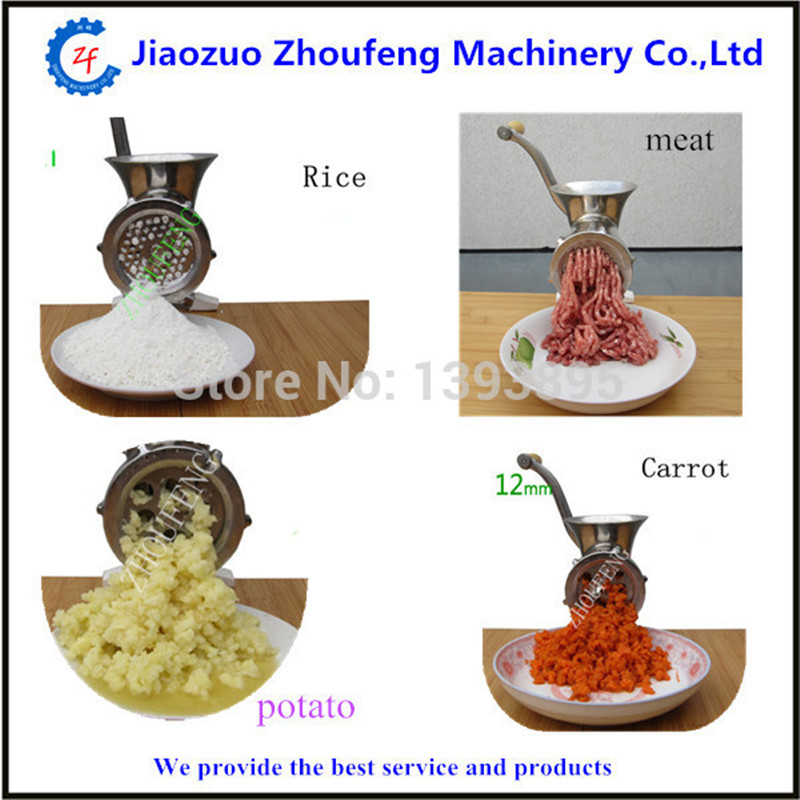 Meat grinder manual operation mini meat grinding mincer machine for home use 8#  ZF