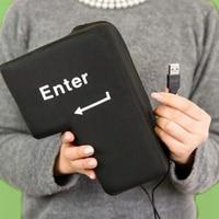 Supersized USB Big Enter Key Pillow Desktop Nap Pillow Stress Relief Tool Funny Toys For Computer
