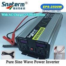 Onduleur 2500W à onde sinusoïdale Pure, hors réseau électrique, fonction d'alimentation UPS, chargeur AC, 4kw/4000W, dc 12V/24V/48V à AC V