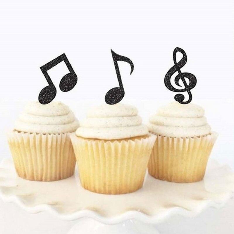 Big Sale 542c 3 Pcs Lot Musical Note Cake Topper Birthday