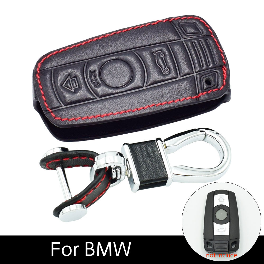 Leather Car Key Cases Key Holder KeyChain Cover for BMW E90 E60 E70 E87 3 5 6 Series M3 M5 X1 X5 X6 Z4 Smart Remote Controller 4 buttons silicone case for bmw x1 x5 x6 bmw 3 5 7 series smart remote car key cover with emblems