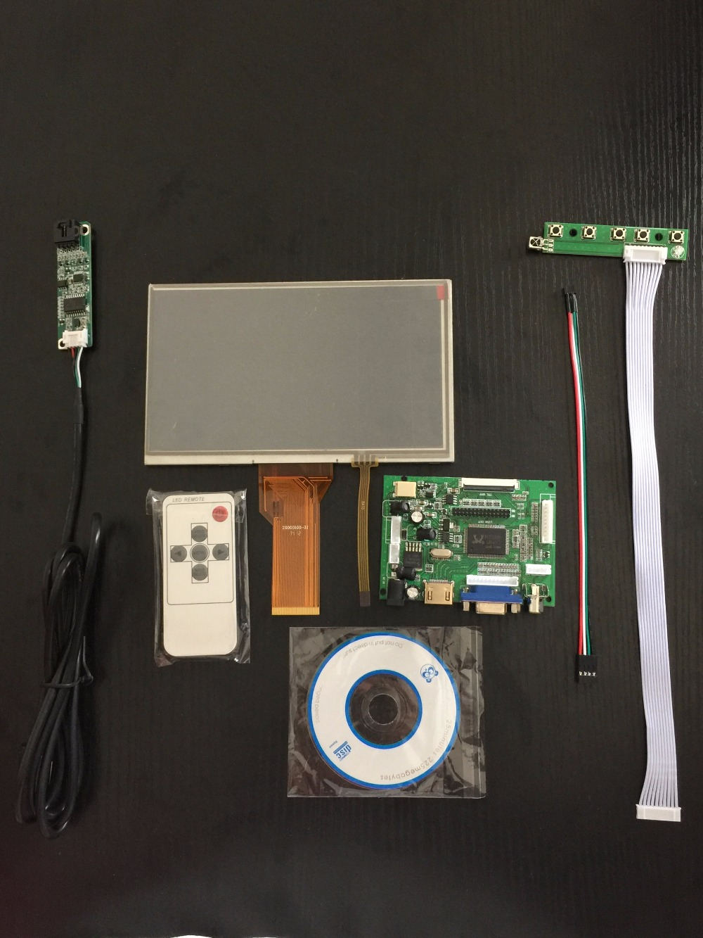 7 Inch Raspberry Pi LCD Display 800 480 TFT Monitor Screen Touch Panel With Drive Board