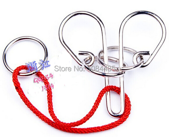 Classic Metal Rope Ring Puzzle Brain Teaser Benders Game Toy For Adults Children