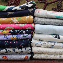 Эластичная хлопчатобумажная трикотажная ткань с рисунком из мультфильма на полметра, швейная одежда для малышей, хлопковая ткань 50*160 см
