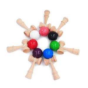 Image 4 - משלוח חינם צעצועי עץ חיצוני ספורט צעצוע כדור Kendama כדור PU צבע 18.5cm מחרוזות מקצועי למבוגרים צעצועי פנאי ספורט