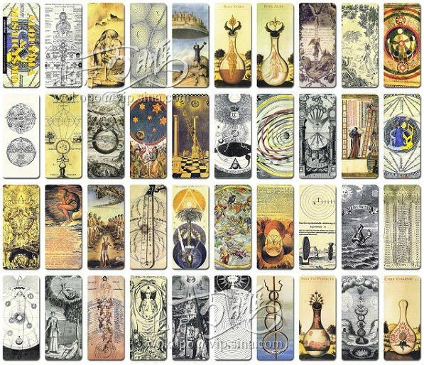 aliexpress  buy occultism and alchemy vintage bookmarks, Birthday card