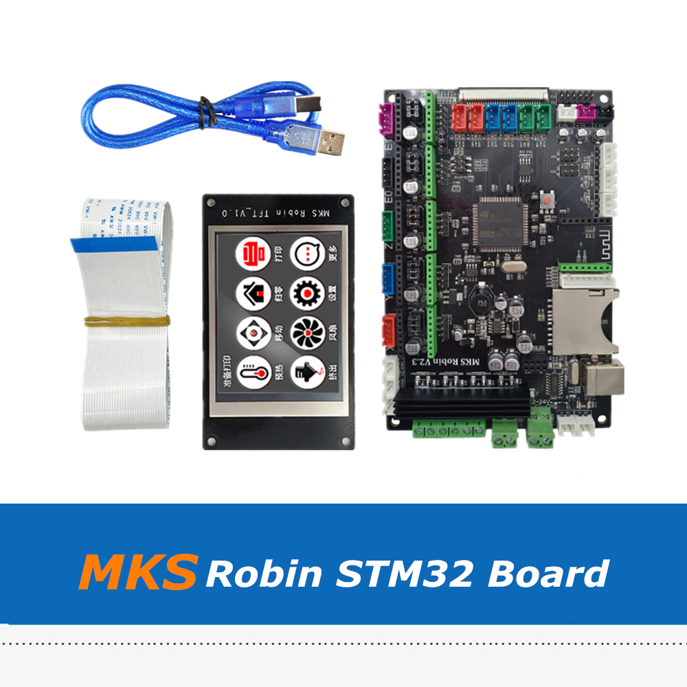 3D Printer Part MKS Robin STM32 Integrated Circuit Controller Mother Board Set with 3.2 Inch TFT Display