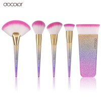 docolor 1pcs Large Fan Brush/Contour / Powder/ Foundation Rainbow brushes Professional Makeup Brushes Beauty Cosmetics Brushes