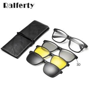 Image 2 - Ralferty רב פונקציה מגנטי מקוטב קליפ על משקפי שמש גברים נשים קל במיוחד TR90 3D צהוב ראיית לילה משקפיים