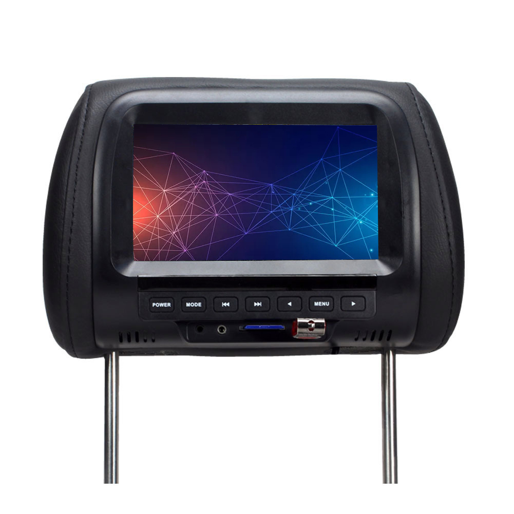 7inch LCD Digital Display Practical Built-in Speakers Multifunction Durable Car Monitor Headrest Screen Touchable Button