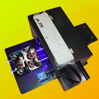 1pc L800 A4 Universal flat panel printer UV relief phone case printing DIY metal crystal T shirt leather stamping/embossing