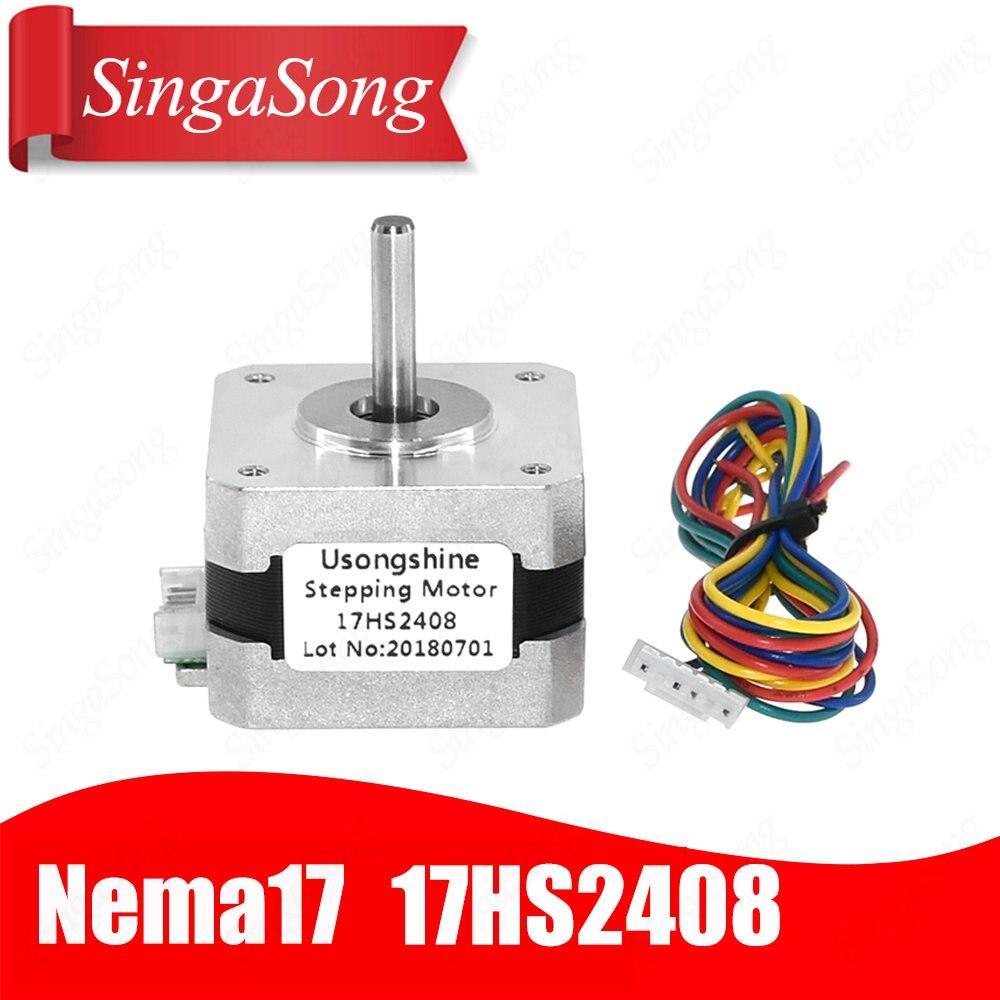 5PCS 17HS4417L20P1-X2 DShaft Nema17 Stepper Motor Bipolar 40mm 0.4Nm 1.7A Reprap