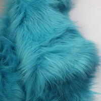 Blue Solid Shaggy Faux Fur Fabric (long Pile fur) Costumes Cosplay 36x60 Sold By The Yard Free Shipping