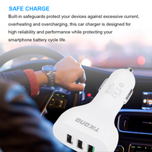 Tikono Quick Charge QC 3.0 3 USB Ports Car Cell Phone Charger Fast Charging For Samsung S7 Note5 Xiaomi  Mi5 For Huawei Mate 9