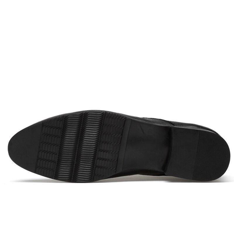 Nova Do black Alta Homens Formal Casamento Moda Lace Dos Couro Black Clássicos Vestido Sapatos De Genuína Slip On Negócio Qualidade Oxford vBwvUWq4r