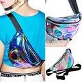 Rainbow Holograma Transparente Bag BLOCO de FANNY Saco Bum Chique Do Punk Do Punk Bolsa de Moda Pacote de Cintura