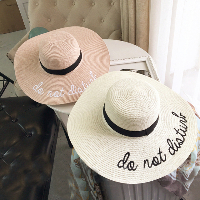 1b681bcaa075f 2017 Summer Women Sun Hat Ladies Wide Brim Straw Hats Foldable Beach Panama  Hats Church Hat Bone Chapeu Feminino