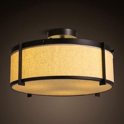 Iron Fabric Lampshade Chinese Anese Style Ceiling Light Led