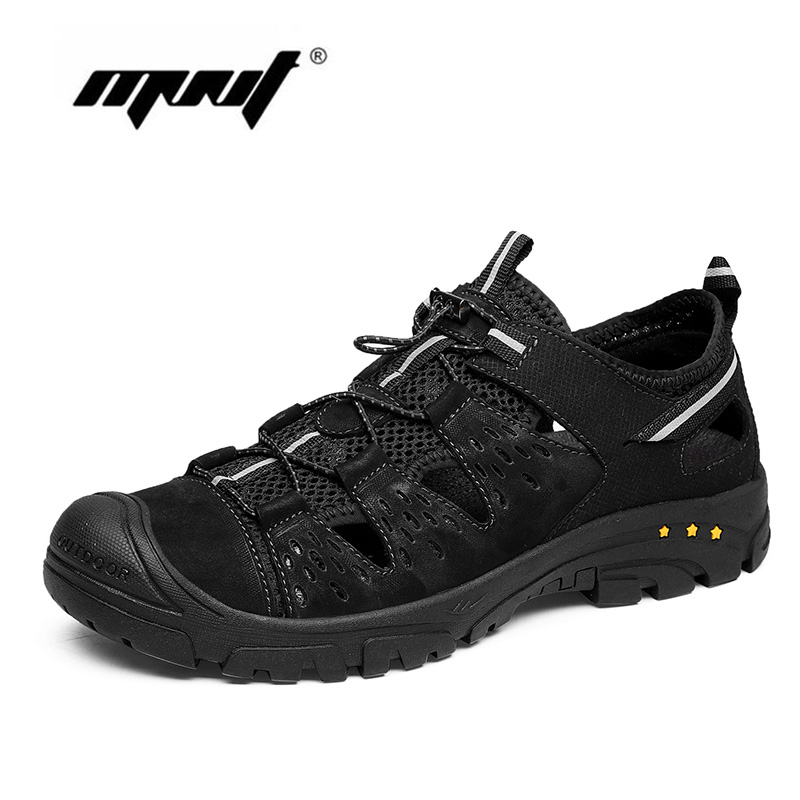 Fashion Men Sandals Plus Size Men Casual Leather Summer Shoes Beach High Quality Outdoor Walking Shoes