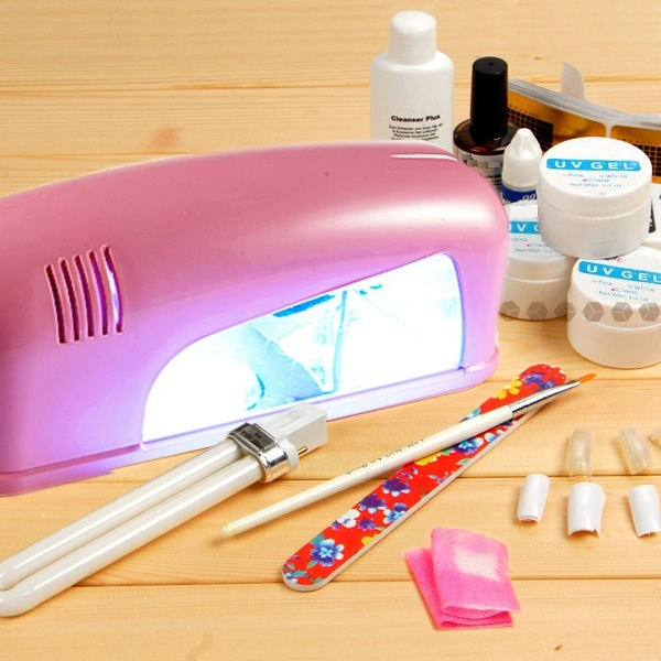 Hot sale Manicure set + Nail Art 9W Curing UV Lamp Dryer + Brush/Files/nail tips - NA888