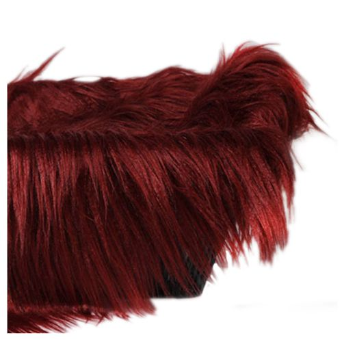 Baby Newborn Faux Fur Photography Photo Props Blanket Basket Stuffer Rug Beanbag Background Backdrop Wine Red