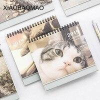 Новый год 2019 планировщик Kawaii котенок кошка настольная органайзер для календаря Офис Школьные принадлежности аксессуары