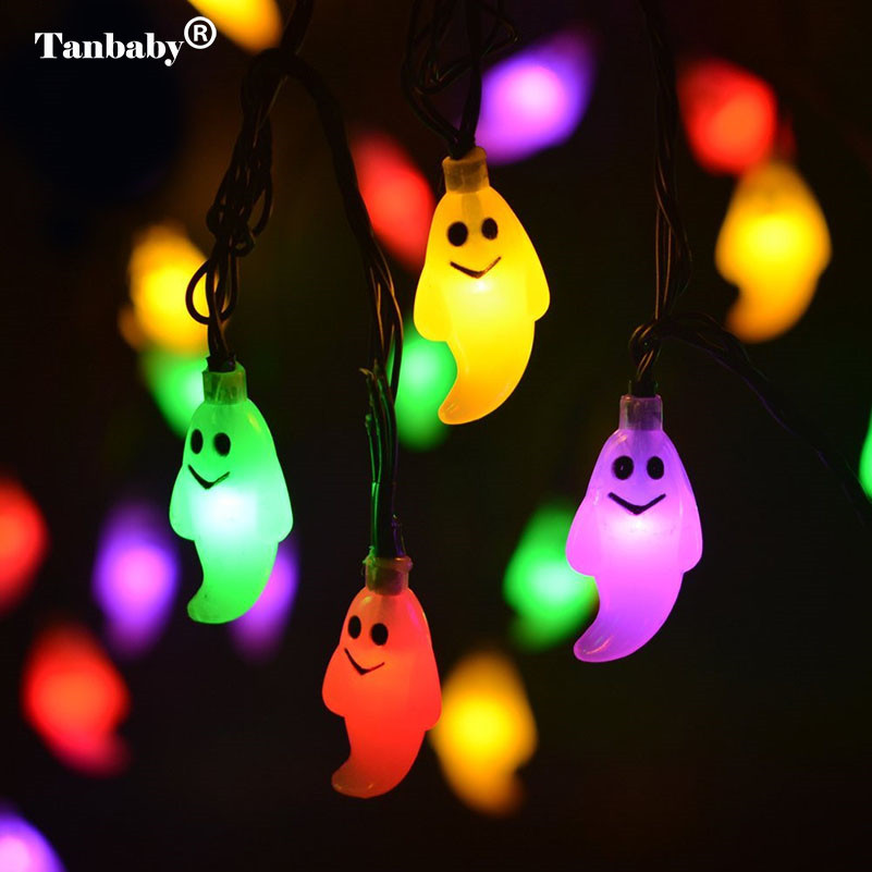 Tanbaby Halloween String Lights 4M 20 Led Waterproof Ghost Light AC 220V Changeable Indo ...