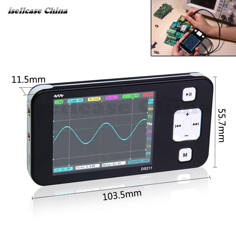Original Version Mini ARM DSO211 Digital Oscilloscope Portable Pocket-sized Nano Handheld Digital Storage Oscilloscope Testing  цены