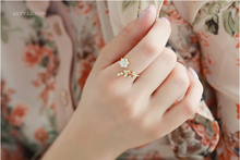 Korean Twisted Leaves Flower Rhinestone Open Ring Rose Gold Color Finger Ring For Women Statement Adjustable Ring Wholesale(China)