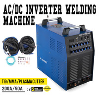 Welder AC/DC TIG 200 Amp PULSE MMA ARC Welder And 50 A Plasma Cutter